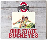 "KHスポーツファン13.63"" x11.63"" Ohio State Buckeyesチームスピリットスラットのフレームでロゴ"