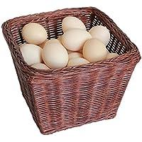 収納 かご バスケットックス ブラウンラタンのシステムは、バスケットのスナックバスケットを受け入れる卵バスケットのストレージボックスは、天然植物のブドウを手作り Rollsnownow