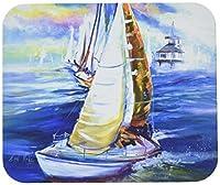 Caroline's Treasures Rock my Boat Sailboats Mouse Pad/Hot Pad/Trivet (JMK1073MP) [並行輸入品]