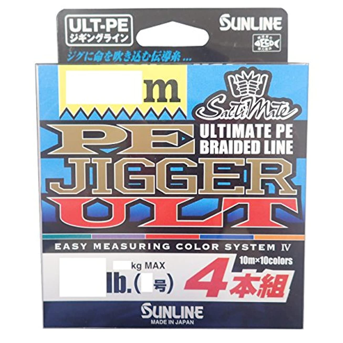 ロビーポジション無しサンライン(SUNLINE) PEライン ソルティメイト ジガー ULT 4本組 300m 1.2号 20lb