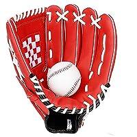 野球グローブ 野球と野球のピッチャーグローブ青少年と大人右ハンドスローソフトボールグローブ11 / 11.5 / 12.5インチ (Color : Black, Size : 11 Inch)
