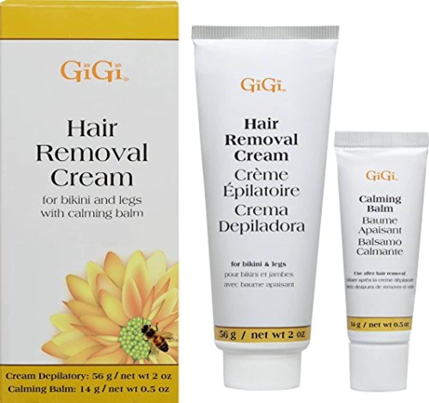 リングバック任意急勾配の(1) - Gigi Hair Removal Cream W/Balm For Bikini & Legs