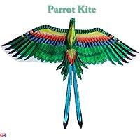 Large Green Parrot Kite – Chinese手作りシルクKites