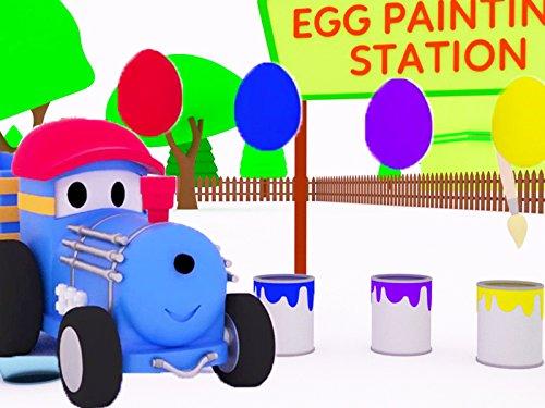 テッドとビーチで色を覚えよう & 色を学ぼう - テッドがイースターエッグを色塗りするよ!