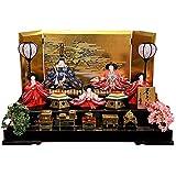 雛人形 久月 ひな人形 雛 平飾り 五人飾り 夢あそび 有職 芥子親王 柳官女 駿河古典蒔絵 h313-k-2359