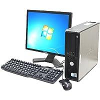 中古 Win7搭載 デスクトップパソコン DELL Optiplex745SFF Core2Duo 2GB 160GB DVDマルチ 17インチ液晶セット EIOffice