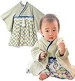 Sweet Mommy 袴 ロンパース ベビー 着物 カバーオール 日本製和柄ちりめん オーガニックコットン身頃
