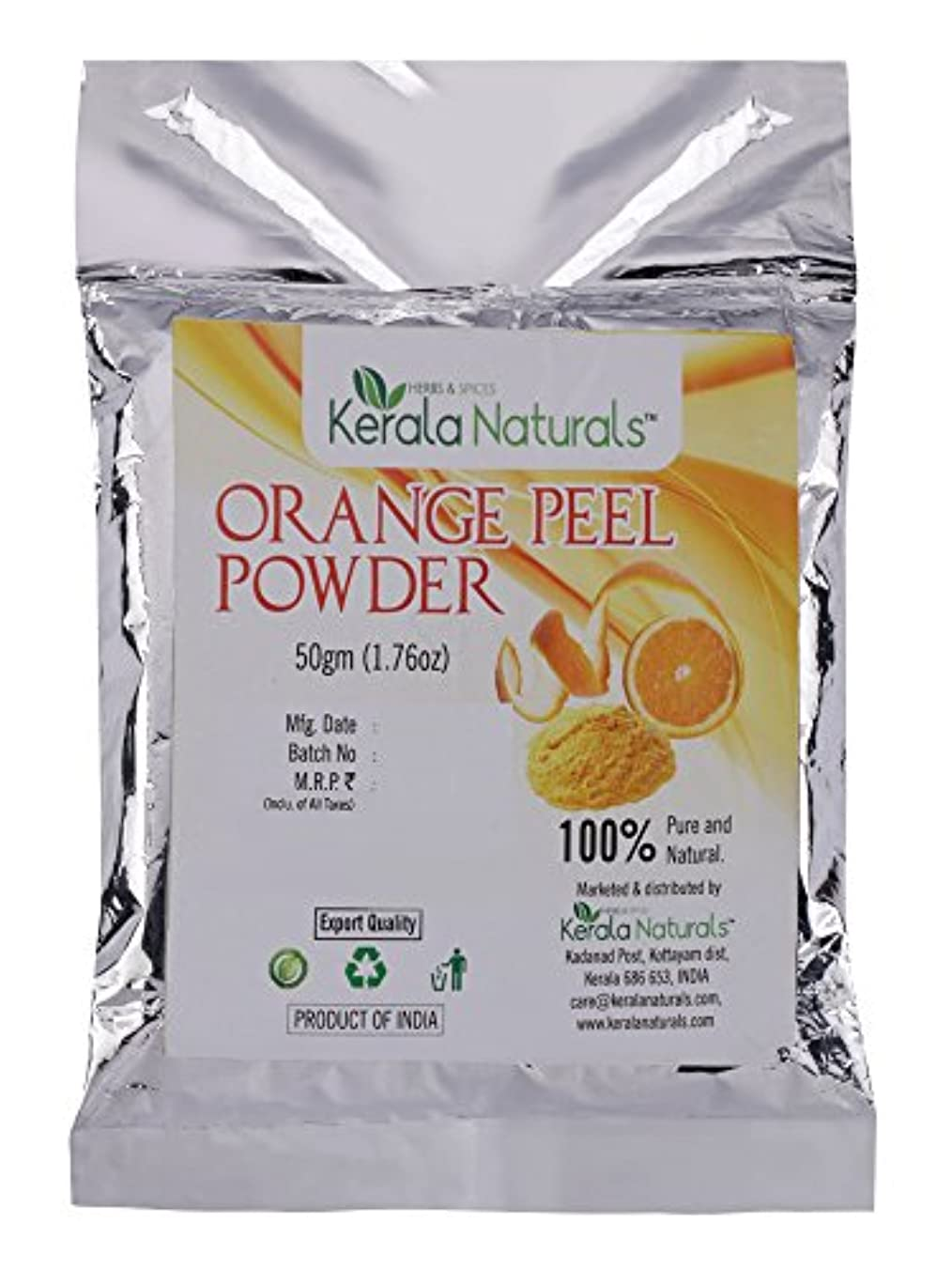 Orange Peel Powder 150gm - Natural Pore Cleanser - Helps to eliminate blackheads, blemishes and scars with its...