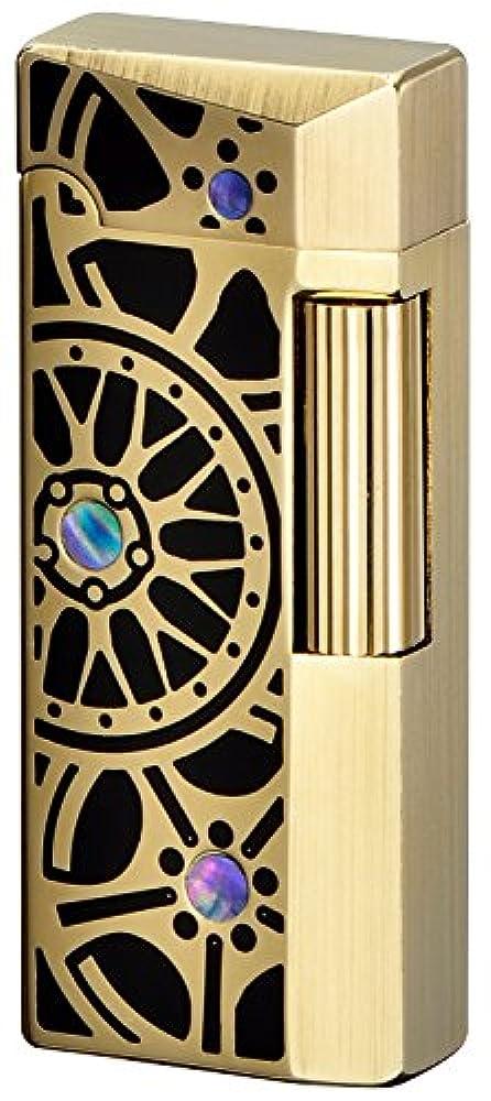 反対した復活する地質学SAROME(サロメ) フリント ガス ライター SD41-15 シャンパンゴールド0.2μ/ブラックエポキシ/ホイールデザイン SD41-15