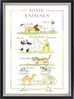 ポスター シャーロット ヴォーク Some Animals 額装品 マッキアフレーム-S(ブラックシルバー)