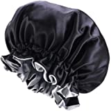 JK Home ナイトキャップ 両面用 就寝用帽子 お休みキャップ ロングヘア対応 保湿 女性用 美髪・育毛 寝癖悩み解消 安眠 お休み寒さ対策 白髪予防 サイズ調整可能