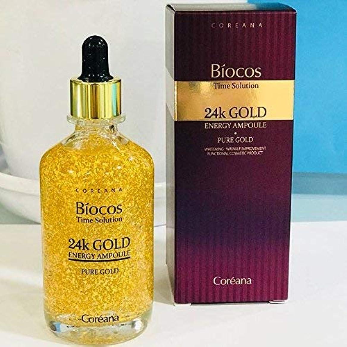 おなじみのフィヨルド[COREANA] Biocos Time Solution 24kゴールドエナジーアンプル100ml)/[COREANA] Biocos Time Solution 24K Gold Energy Ampoule