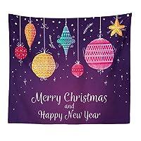 Mrs Garden クリスマス飾り タペストリー おしゃれ壁掛け アニメ パーティー 多機能ファブリック装飾用品 冬 装飾布 部屋 北欧風 壁 窓の装飾 カーテン 模様替え リビングの飾り インテリア飾り 個性プレゼント お祝い (230cm×180cm)