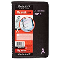 AT-A-GLANCE Weekly/Monthly Appointment Book/Planner 2016 12 Months Quick Notes Breast Cancer Awareness 4.88 x 8 Inch Page Size (76PN0205) [並行輸入品]