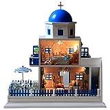 ドールハウス ミニチュア ハウス  サントリーニ島 コレクション おもちゃ 組み立て フィギュア 可愛い KB-SADOLL
