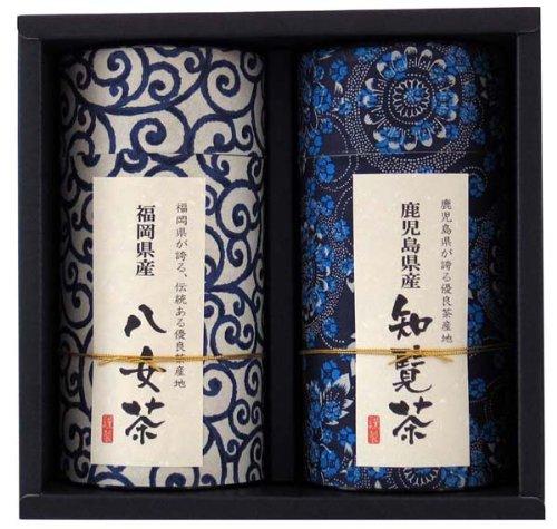 カネイ一言 鹿児島知覧茶と福岡八女茶アソートギフト和 140gX2