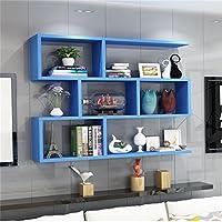 木製の棚の棚壁掛け棚のベッドルーム棚の収納棚の壁のキャビネットユニットの棚壁の装飾のデザイン現代風のスタイル(青) ( サイズ さいず : 120cm*20cm )
