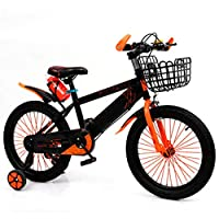 Axdwfd 子ども用自転車 キッズバイク子供用自転車トレーニングホイール12/14/16/18インチの男の子と女の子のサイクリング、2〜9歳の子供に最適黄赤青 (色 : Orange, サイズ さいず : 12in)