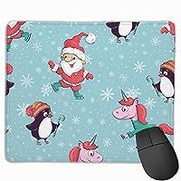 マウスパッド ペンギン ブルー クリスマス グレー ゲーミング オフィス最適 おしゃれ 疲労低減 滑り止めゴム底 耐久性が良い 防水 かわいい PC MacBook Pro/DELL/HP/SAMSUNGなどに 光学式対応 高級感プレゼント Tartiny