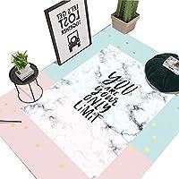 ピンクのベルベットの敷物、防湿装飾、エントランスホールに適し、5サイズ、3パターン (パターン : #2, サイズ さいず : 160*230cm/63.0*90.5in)