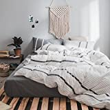 "Baiz MSWEET 4-Piece(1 Flat Sheet- 1 Coverlet- 2 Pillows) 100% Cotton Quilt Sets.-Rock, King Size (95""x95"")."