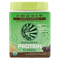 Sunwarrior Classic Protein Organic Plant-Based Chocolate 13.2 oz (375 g)