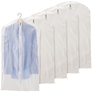 897dd96ed2ee8 EZOWare 洋服カバー 5枚入 衣類カバー 衣類収納ケース 衣替え クローゼット 衣類長期保管