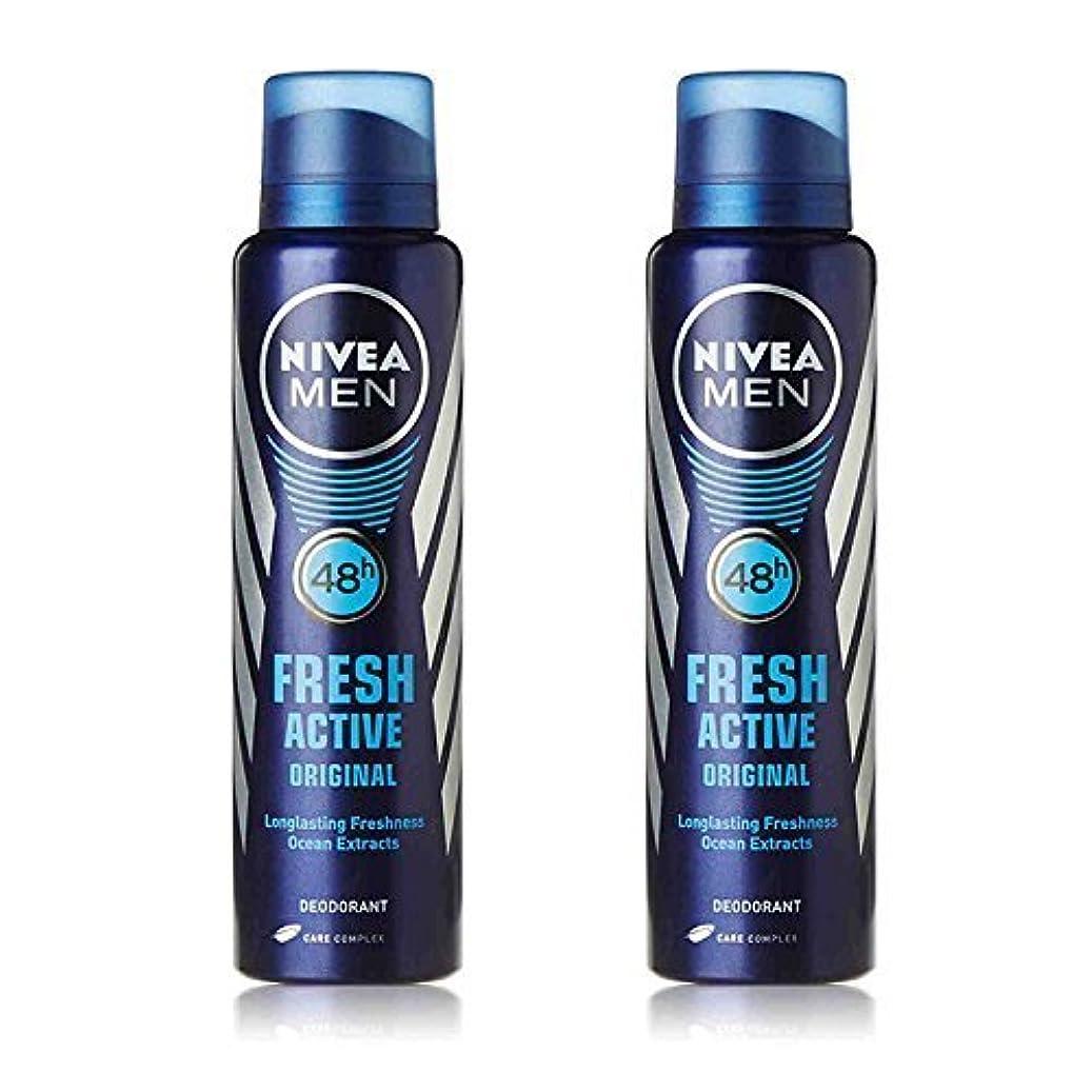 充実状態パラナ川Nivea 2 Lots X Fresh Active Original 48 Hours Deodorant, 150Ml