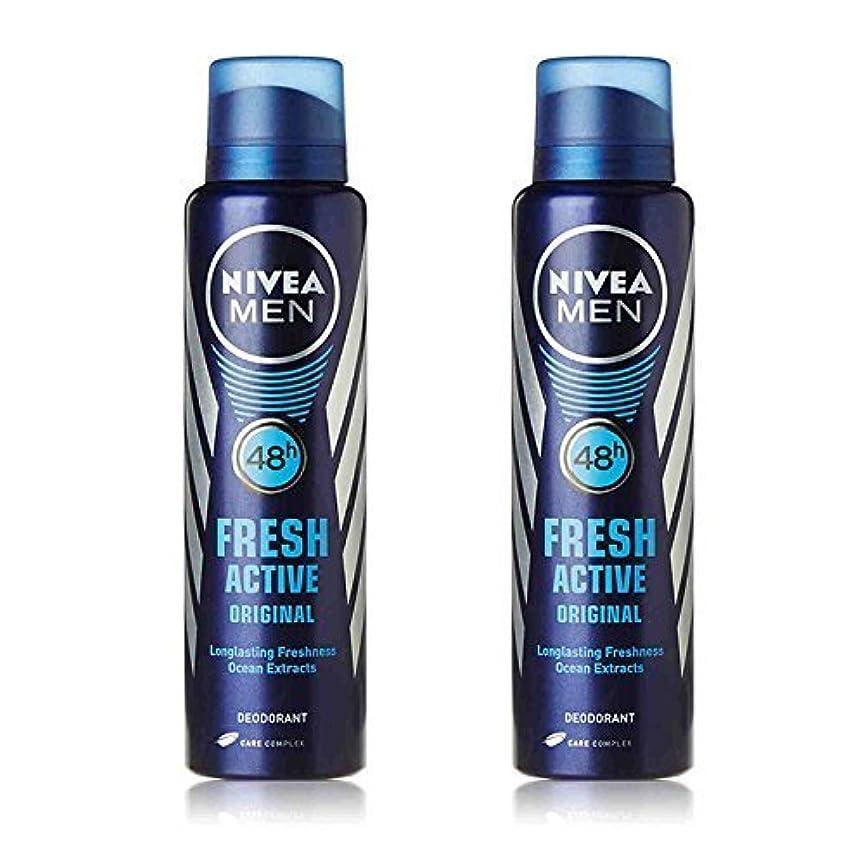 改修フィットバルーンNivea 2 Lots X Fresh Active Original 48 Hours Deodorant, 150Ml