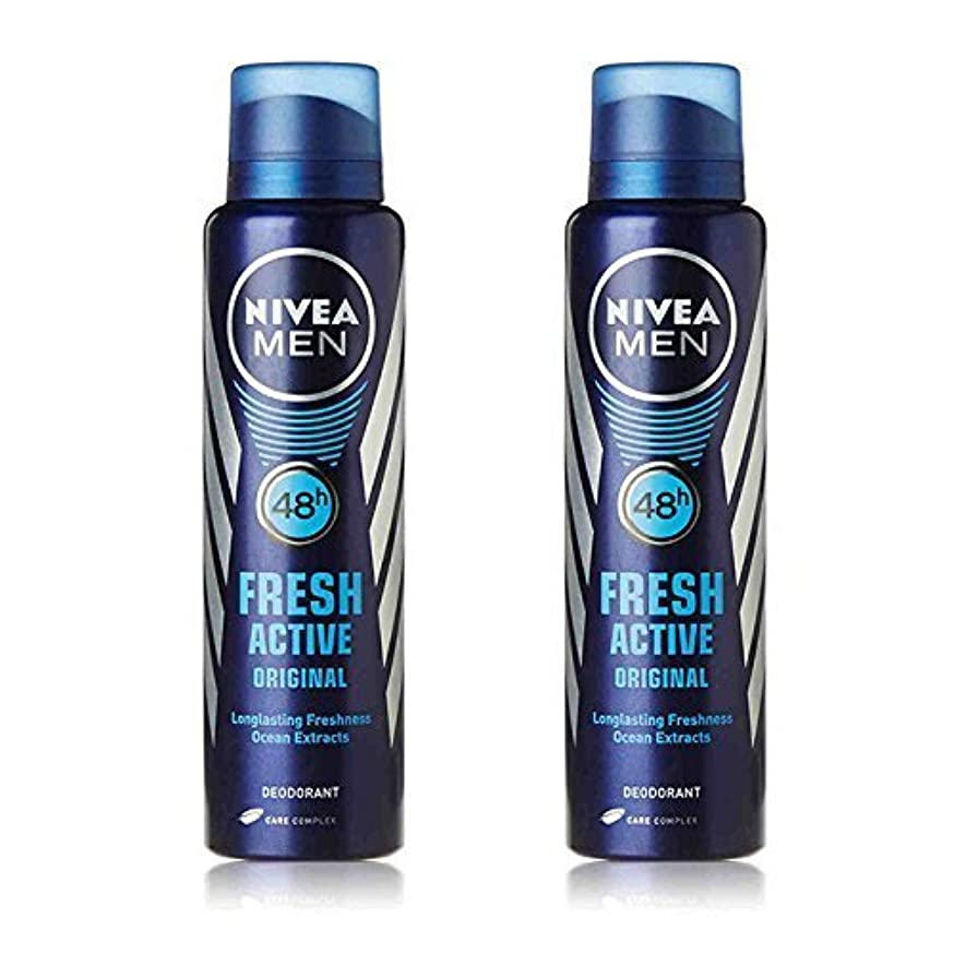 熟練した重要性シルクNivea 2 Lots X Fresh Active Original 48 Hours Deodorant, 150Ml