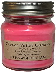 Strawberry Jam Half Pint Scented Candle byクローバーValleyキャンドル