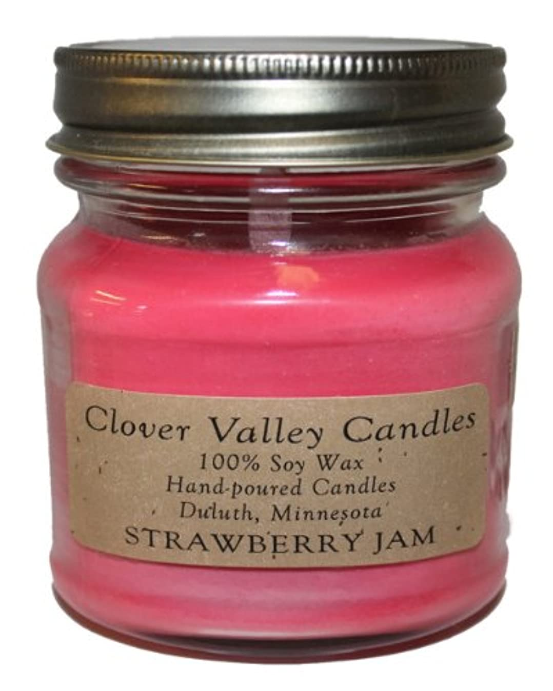 おじさんバクテリア海岸Strawberry Jam Half Pint Scented Candle byクローバーValleyキャンドル