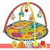 SUSUQI フィッシャープライス ベビージム ベビー プレイマット フィッシャープライス レインフォレスト・デラックスジム 赤ちゃんジム おもちゃ付き 出産祝い 新生児 0歳 脳を刺激 視覚 聴覚