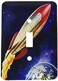 3drose LLC lsp _ 53074_ 1Rocket Shooting ThroughスペースAround地球、単一切り替えスイッチ