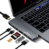Elivebuy USB C ハブ MacBook Pro 2018 USB Type-C 変換ハブ 多機能 一台7ポート「USB3.0ポート*2 Thunderbolt3 4KHDMI PD急速充電 Micro/SDカード」 MacBook Pro13