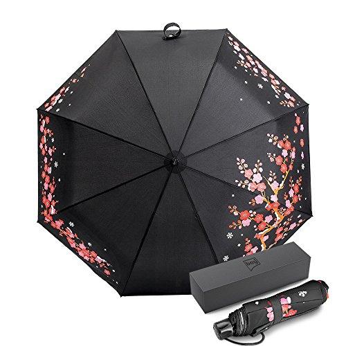 ドイツ(boy) 折りたたみ傘 レディース 軽量 晴雨兼用 超撥水 210T最高級のNC布 手開閉式 おしゃれ はじきなし安全設計 収納ケース付き