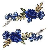 (ステキ ライフ)Suteki Life DIY 手芸用品 布貼りアップリケ 立体刺繍 高級感 復古デザイン 衣類アクセサリー 刺繍パッチ  ソーイング用 2枚入り