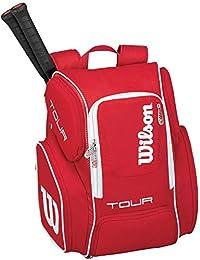 WILSON(ウィルソン)男女兼用 テニス用ラケットバッグ ツアーV バックパック ラージ レッド WRZ843696