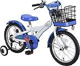 BENETTON(ベネトン) BENETTON-KIDS 子ども用自転車 16インチ [ 補助輪 / ベル / 前後泥よけ ]標準装備 ホワイト/ブルー YG-260