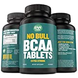 BCAA Tablets - 120 Pills, Extra Strong 1000mg Per Tablet - 2:1:1 Branched Chain Amino Acid Ratio Supplement - Non-GMO Natural