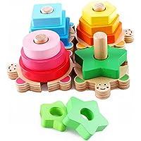 子供の教育赤ちゃんおもちゃ木製ジオメトリ形状インテリジェンスタートルプレートペアリングセット列ブロック