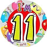(エクスプレッション?ファクトリー) Expression Factory バースデーパーティーに 今日で11歳 誕生日 バッジ