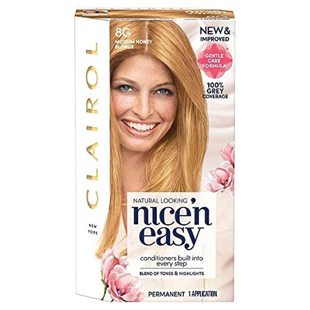 エステート順応性急流[Nice'n Easy] クレイロール素敵な「N簡単にメディアハニーブロンド8グラムの染毛剤 - Clairol Nice 'N Easy Medium Honey Blonde 8G Hair Dye [並行輸入品]