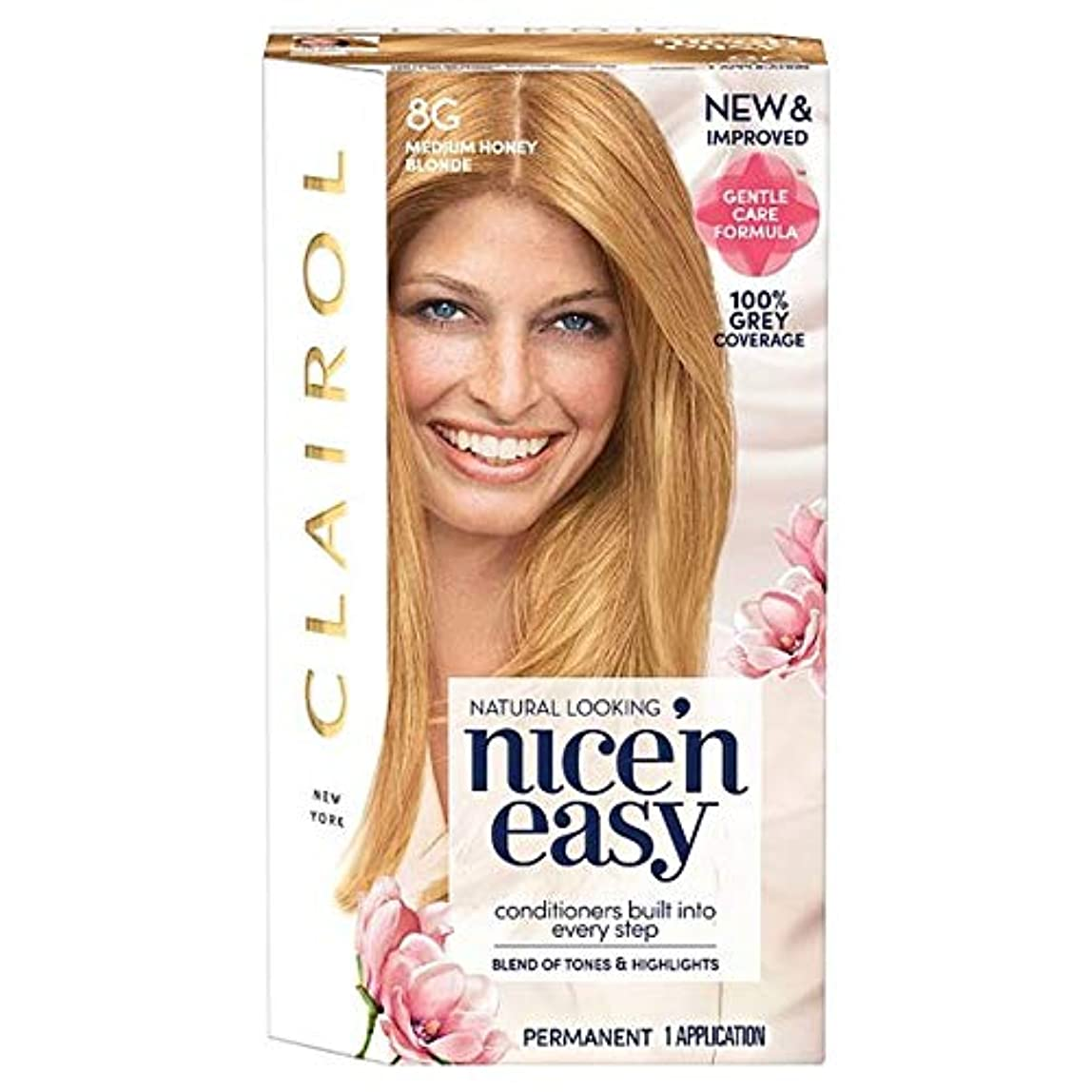ハング拷問消化[Nice'n Easy] クレイロール素敵な「N簡単にメディアハニーブロンド8グラムの染毛剤 - Clairol Nice 'N Easy Medium Honey Blonde 8G Hair Dye [並行輸入品]