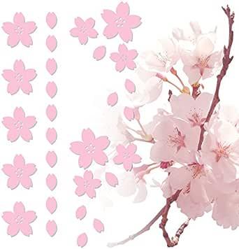 nc-smile 桜 さくら Petals of cherry blossoms ステッカー デカール シール Lサイズ