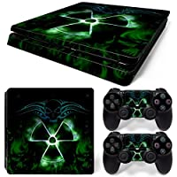 Sony PS4 Playstation 4 Slim Skin Design Foils Faceplate Set - Nuclear 2 Design
