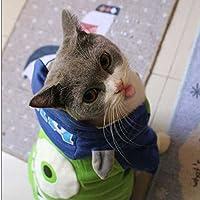 Mr.Q!暖かい猫衣装コートジャケットマイクWazowski猫服パーカージャンプスーツ:グリーン、XL