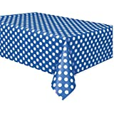Blue and White Dots Plastic Tablecover 青と白のドットプラスチックTablecover?ハロウィン?クリスマス?