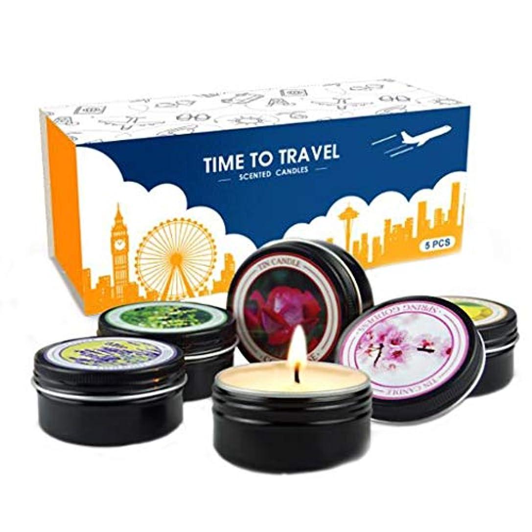 活気づける精通した更新するキャンドル、無煙眠そうな大豆のワックスの香料入りの蝋燭、旅行軽い香料入りの蝋燭セット5