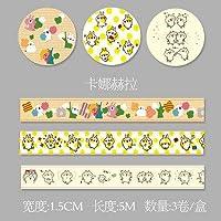 Odissys 3枚/箱1.5センチメートル* 5メートル新鮮な花模様の和紙テープDIY装飾スクラップブッキングプランナーマスキングテープの接着剤カワイイ文具 [11]